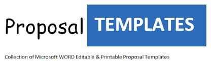 editable printable proposal templates