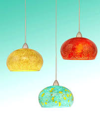 Colored Glass Pendant Lights Colorful Pendant Lights A Multi Colored Glass Light Shows Rainbows