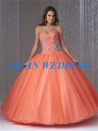 orange quinceanera dresses modest design appliques beadings orange quinceanera dress gowns