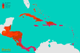 Blank Caribbean Map by Central America Caribbean Hardiness Map Landscape Architect U0027s Pages