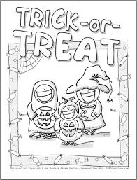 Fall Halloween Coloring Pages by Amazing In Addition To Lovely Trick Or Treat Coloring Pages