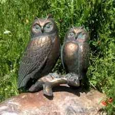 original owl garden ornament bird sculptures