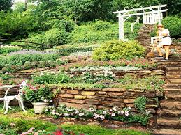 scape idea outdoor home landscaping designs with slopes steep