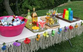 Decoration Ideas For Birthday Party At Home Hawaiian Decorations