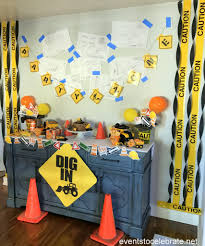 Construction Party Centerpieces by Construction Birthday Party Decorations Archives Events To