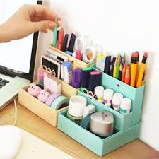 Decorative Paper Storage Boxes With Lids Diy Makeup Cosmetic Container Folding Paper Board Holder Storage