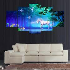 Wall Art Paintings For Living Room Online Get Cheap Unicorn Wall Art Aliexpress Com Alibaba Group