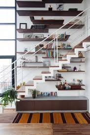 amazing under stairs floating shelf storage idea feat contemporary