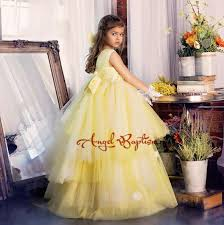 where to buy tulle aliexpress buy luxury yellow tulle tutu flower girl dresses