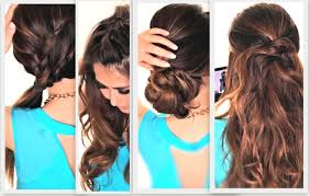 Simple But Elegant Hairstyles For Long Hair by 6 Easy Lazy Hairstyles Cute Everyday Hairstyle Youtube