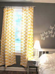 yellow curtains with multicolor and flowers yellow curtains and