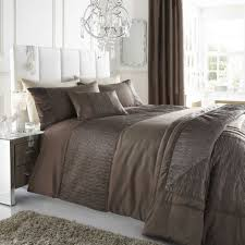 brown taupe colour stylish textured faux silk duvet cover luxury