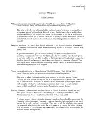 annotated bibliography emancipation proclamation abraham lincoln