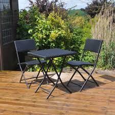 Rattan Bistro Chairs Havana Rattan Bistro 2 Seat Garden Furniture Table 3 Piece Resin
