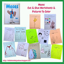 bible fun for kids moses cut u0026 glue and pictures to color