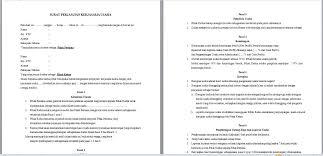 contoh surat pernyataan format a1 contoh surat perjanjian kerjasama dalam bisnis jasa usaha dan