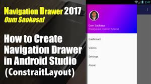android studio dashboard tutorial how to create navigation drawer in android studio 2017