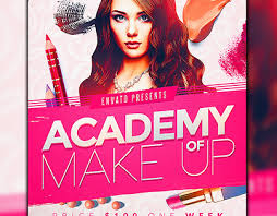 make up course makeup course flyer template on behance