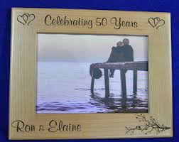 engraved anniversary gifts anniversary frame etsy