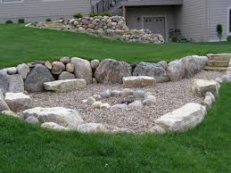 Rock Firepit Rock Garden With Pit Pits Fireplaces Des Moines