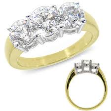 3 diamond rings 14k yellow gold 3 diamond ring 2 0 ct