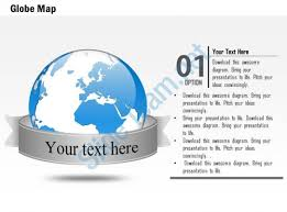 0914 business plan 3d globe with text ribbon title powerpoint