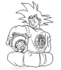 dragon ball color coloring pages kids cartoon