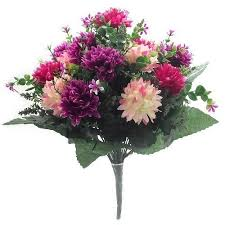 artificial flowers artificial flowers 41cm spikey chrysanthemum mixed bush hot
