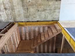 Looking Down Stairs by Progress Update 2 Framing U2013 Philly Garage Reno