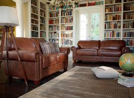 Oxford Leather Sofa Featuring A Beautifully Detailed Roll Arm And Seating The