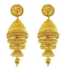gold jhumka earrings design with price jhumkas designer gold jhumka retailer from hyderabad