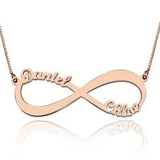 infinity necklace with name gifts for 18k gold infinity necklace name