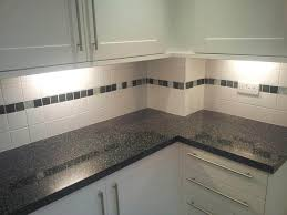 kitchen good combination of black and white tone ktchen wall