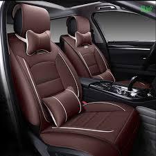 housse siege c3 avant et arrière siège de voiture en cuir de luxe couverture pour
