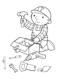 bob the builder coloring pages free printable coloring pages