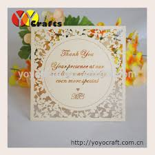 personalized thank you cards laser cut wedding decorations unique personalized thank you cards