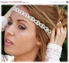rhinestone headband bridal hair accessory bridal headband bohemian rhinestone