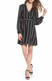 Long Sleeve Black Fit And Flare Dress Women U0027s Long Sleeve Fit U0026 Flare Dresses Nordstrom
