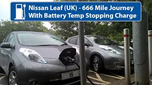 nissan leaf quick charge time nissan leaf 24kw 666 miles with batt temp stopping charge uk
