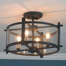 industrial semi flush mount lighting 19 lovely semi flush mount light fixtures best home template