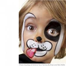 cute dog face painting design parenting