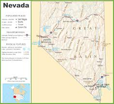 State Capitol Map by Nevada Highway Map