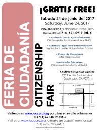 citizenship fair feria de ciudadanía southwest senior center