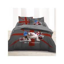 accessoire chambre ado housse de couette 200x200 parure de lit bulldog chambre