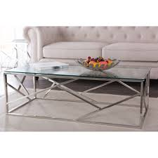 Dining Room Furniture Ct Baxton Studio Fiona Modern And Contemporary Stainless Steel Coffee
