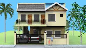 House Plans With Balcony by Small 2 Storey House With Roofdeck Youtube
