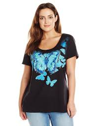 just my size s plus size sleeve v neck t shirt at