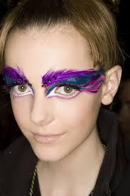 zinc purple startling fantasy eye makeup with skin lipstick