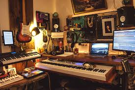 Recording Studio Workstation Desk by Backlit Home Recording Studio With Standing Desk Album On Imgur