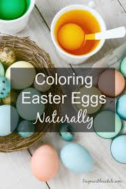 avoid food dyes and color easter eggs naturally